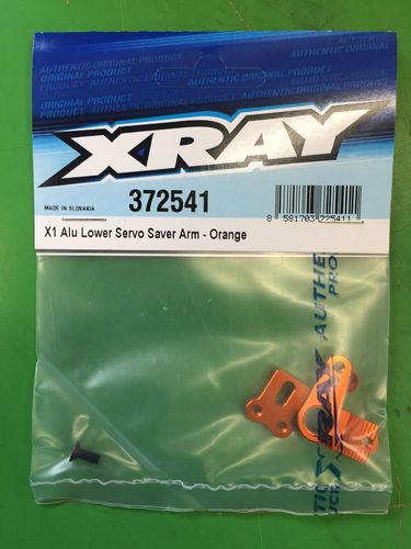 XRAY 372541 - X1 Alu Lower Servo Saver Arm - ORANGE - for Ackermann adjustment