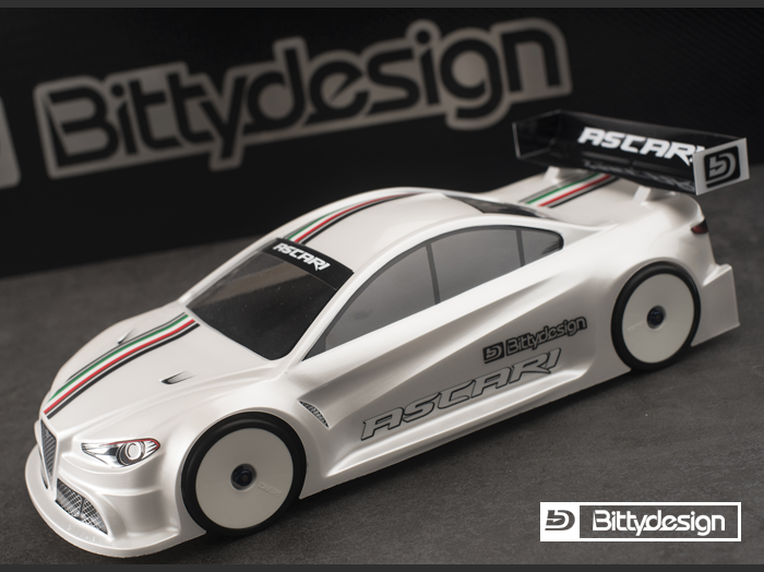 BittyDesign - ASCARI 1:10 Touring Body - 190mm - LIGHTWEIGHT Version 2017