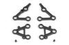 XRAY 382101 - SET OF SUSPENSION ARMS, LOWER + UPPER (2+1+1) - HARD