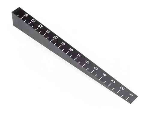 HUDY 107715 - CHASSIS RIDE HEIGHT GAUGE 0 MM TO 15 MM (BEVELED)