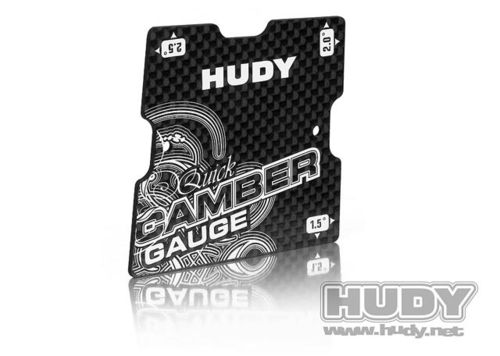 HUDY 107750 - GRAPHITE QUICK CAMBER GAUGE 1/10 TOURING 1.5°; 2°; 2.5°