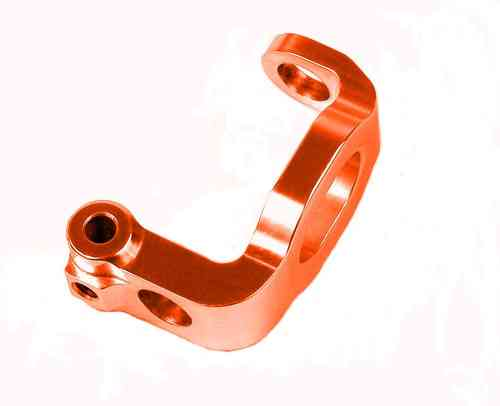 XRAY 302337 - ALU C-HUB FRONT BLOCK, RIGHT - 4° DEG. - ORANGE