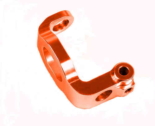 XRAY 302340 - ALU C-HUB FRONT BLOCK, LEFT - 6° DEG. - ORANGE