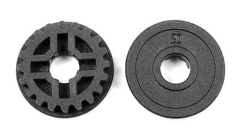 XRAY 305575 - FIXED PULLEY 20T (2)