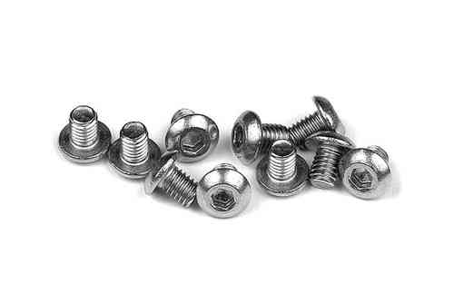 XRAY 902304 - HEX SCREW  SH M3x4 - STAINLESS  (10)