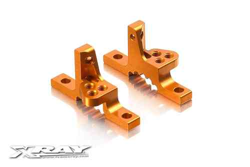 XRAY 302028-O - T3 ALU UPPER CLAMP WITH ADJ. ROLL-CENTER (L+R) - ORANGE