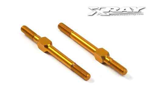 XRAY 302612-O - ALU ADJ. TURNBUCKLE M3 L/R 39 MM - ORANGE - SWISS 7075 T6 (2 pieces)