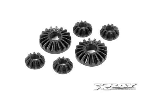 XRAY 304930 - COMPOSITE GEAR DIFF BEVEL & SATELLITE GEARS (2+4)