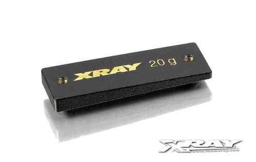 XRAY 309853 - PRECISION BALANCING CHASSIS WEIGHT CENTER 20 G