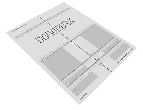 HUDY 108210 - PLASTIC SET-UP BOARD DECAL FOR 1/8, 1/10