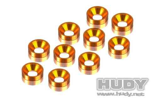 HUDY 296510-O - ALU COUNTERSUNK SHIM - ORANGE (10)