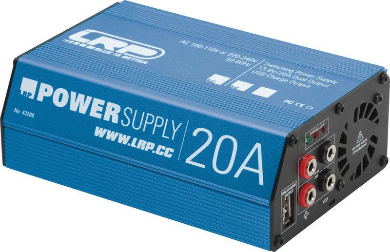 LRP 43200 - 13.8V / 20A Netzteil mit 2 Ausgängen + USB Ladebuchse ...
