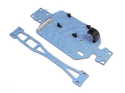 XRAY 381171 - M18T Tuning Carbon Chassis Set - BLAU