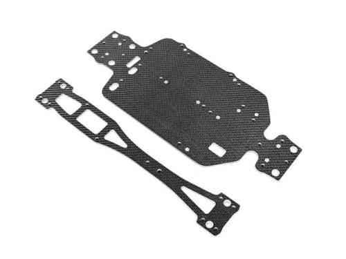 XRAY 381173 - M18T Tuning Carbon Chassis Set - SCHWARZ