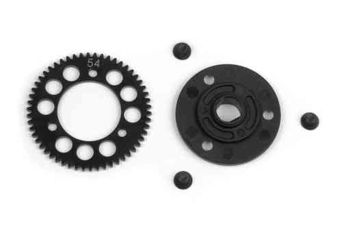 XRAY 385654 - STEEL SPUR GEAR 54T / 48 + COMPOSITE SPUR GEAR ADAPTER