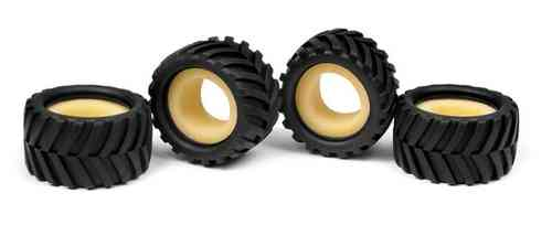 XRAY 389621 - MICRO MONSTER TRUCK TIRE & INSERT - CHEVRON (4+4)