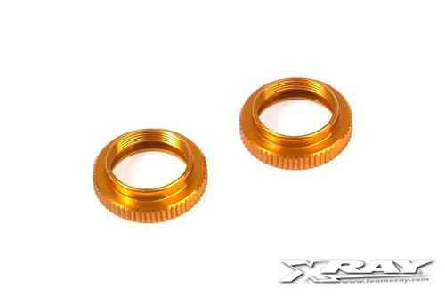 XRAY 308042-O - T4 ALU SHOCK ADJUSTABLE NUT - ORANGE