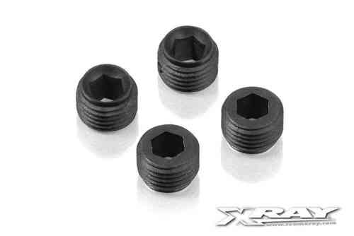 XRAY 337253 - NT1 COMPOSITE ADJUSTING NUT M10x1 WITH BALL CUP (4 pieces)