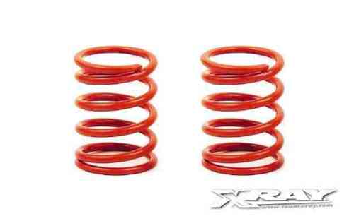 XRAY 338288 - NT1 SPRING-SET D=1.9 (35 LB) LIGHT-RED - HARD - REAR (2)