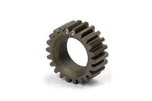 XRAY 338522 - NT1 XCA ALU 7075 T6 HARDCOATED PINION GEAR - 22T (2ND)