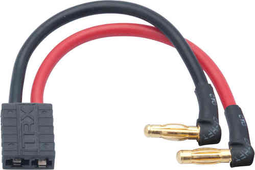LRP 65837 - LiPo Hardcase adapter wire - 4mm male plug to Traxxas TRX plug 90 angle