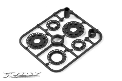 XRAY 345800 - RX8 2013 Composite Belt Pulley Cover Set