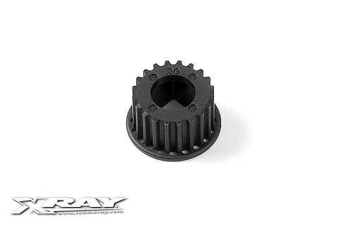 XRAY 345820 - RX8 2013 Composite 2-Speed Belt Pulley 20T - Center