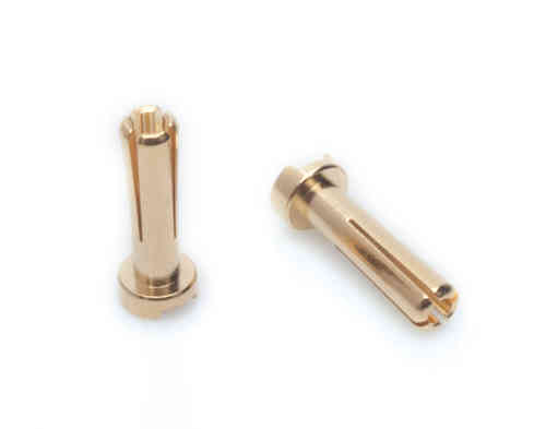 LRP 65815 - 4mm Gold Works Team connectors (10 pcs.)