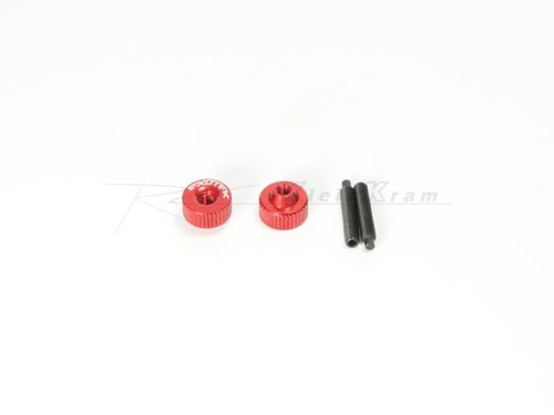 Exotek 1191RD - ALLOY TWIST NUTS RED