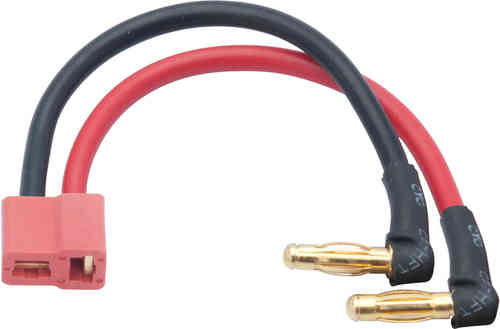 LRP 65834 - LiPo Hardcase adapter wire - 4mm male plug to US-style plug 90 angle