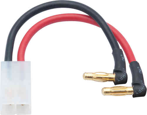 LRP 65838 - LiPo Hardcase adapter wire - 4mm male plug to Tamiya/JST plug 90 angle