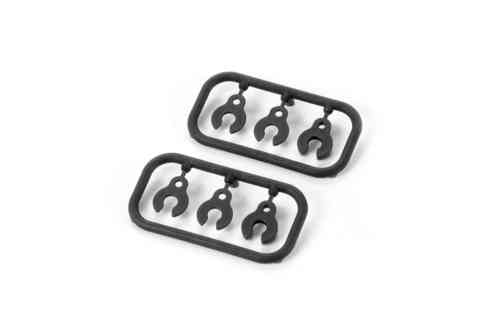 XRAY 352381 - XB8 2016 Caster Clips (2)