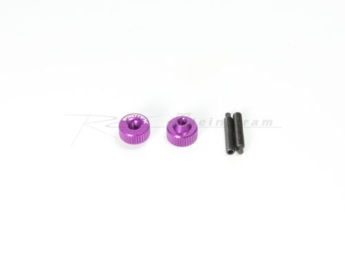 Exotek 1191PUR - ALLOY TWIST NUTS PURPLE