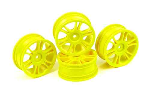 HUDY 803009 - 24 mm Wheels Starburst - Yellow (4 pieces)