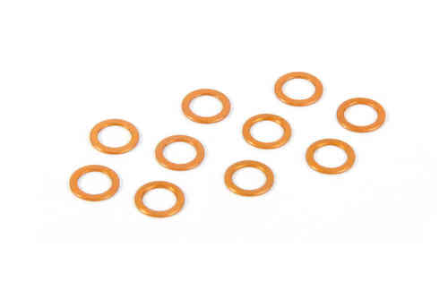 XRAY 373120-O - X12 2015 Alu Shim 5.3x7.8x0.5mm - Orange (10 pieces)