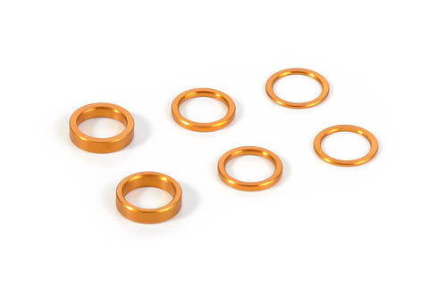 XRAY 375090-O - X12 2015 Set of Alu Shims (0.5mm, 1.0mm, 2.0mm) - Orange