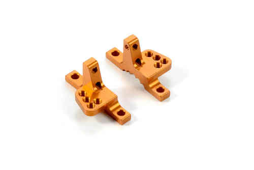 XRAY 302034-O - T4 2015 Alu Upper Clamp with 5 adjustable Roll-Centers (L+R) - Orange