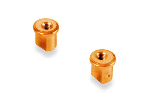 XRAY 372317-O - Alu Eccentric Bushing 0.5mm orange (2 pieces)
