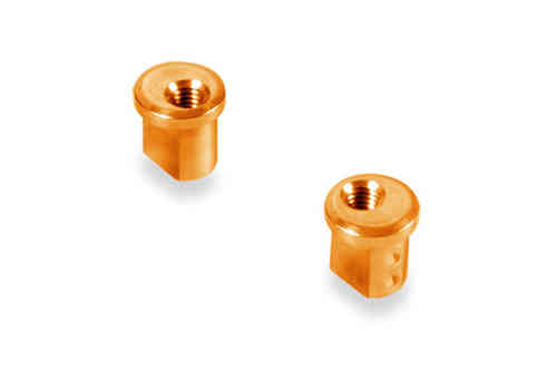 XRAY 372318-O - Alu Eccentric Bushing 1.0mm orange (2 pieces)