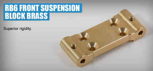 Revolution Design 0201 - RB6 Front Suspension Block Brass 32g