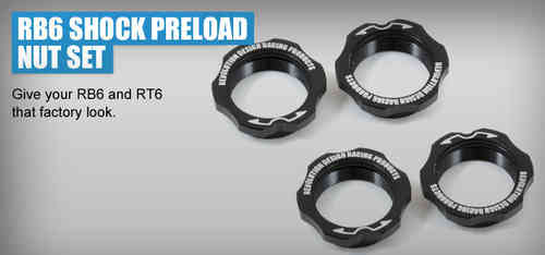 Revolution Design 0207 - RB6 Shock Preload Nut Set