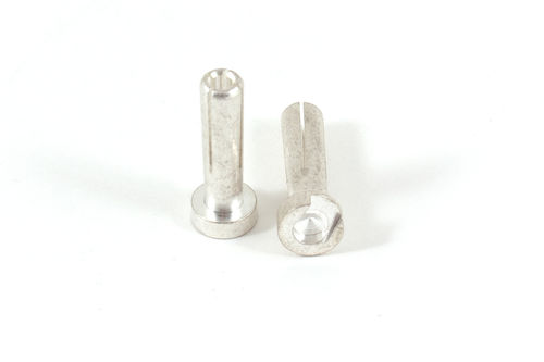 Vampire Racing 5805 - High Current Silver Plug Male - 4mm - 18mm lang (1 Pair)