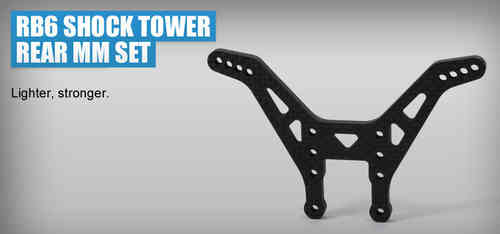 Revolution Design 0204 - RB6 Shock Tower Rear MM Set