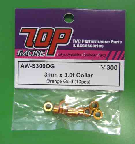 TOP AW-S300OG - 3mm x 3.0t Shims - Orange- Gold (10)