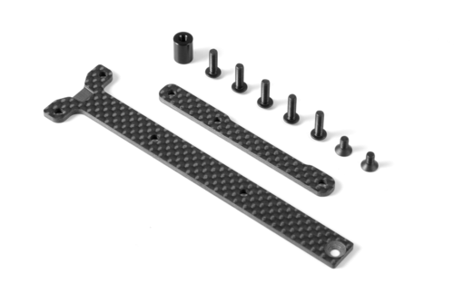 XRAY 361168 - Graphite Chassis Braces for Short Pack (2)