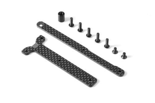 XRAY 361169 - Graphite Chassis Brace for Saddle Pack (2)