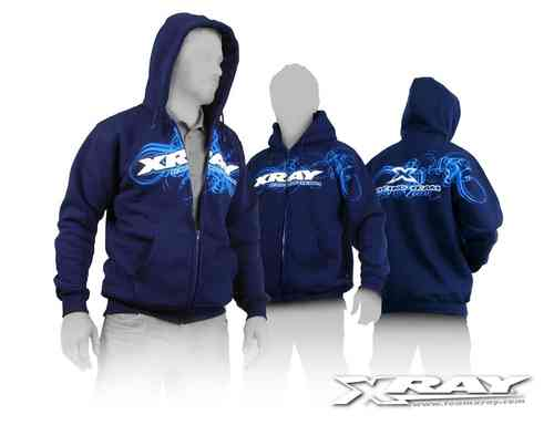 XRAY 395600S - Team Zipped Sweater - Größe S - blau
