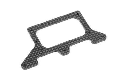 XRAY 371149 - X1 Tuning Carbon Rear Pod Platte - 2.0mm - Asphalt
