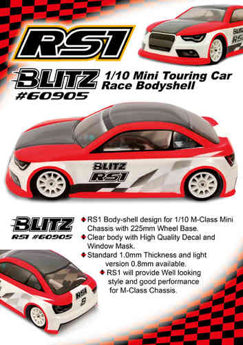 BLITZ 60905-10 - RS1 - M-Chassis 225WB Body - REGULAR 1.0