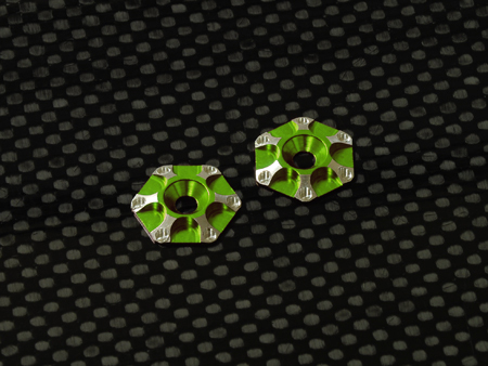 Spec-R SPR057-G - Alu Shims for Rear Wing (2pcs) - GREEN